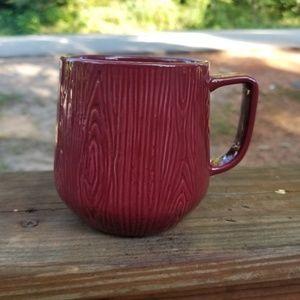 Set of 2 Wood grain mugs